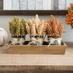 Wheat Tray Floral Arrangement