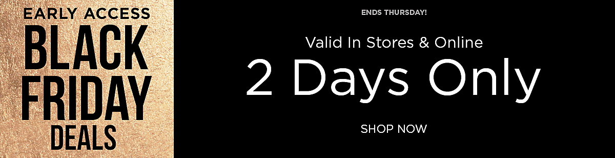 Shop the Pre-Black Friday Sale For Two Days Only