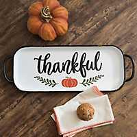 Thankful Pumpkin Metal Tray