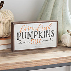 Farm Fresh Pumpkins Word Block