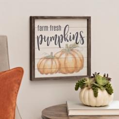 Farm Fresh Pumpkins Plank Plaque