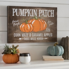 Pumpkin Patch and Corn Maze Wood Plaque