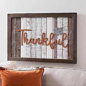 Thankful Leaf Plank Plaque