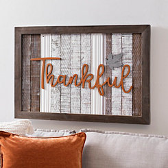 Thankful Leaf Plank Plaque
