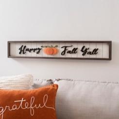 Happy Fall Y'all Pumpkin Plank Plaque