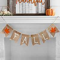 Fall Leaf Burlap Banner