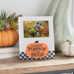Cutest Pumpkin Buffalo Check Picture Frame, 4x6