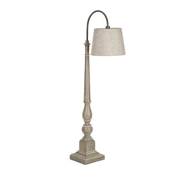 Gray Arched Top Floor Lamp