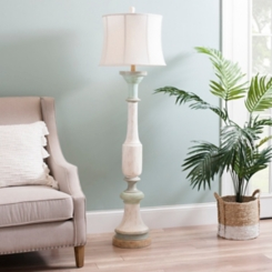 Trellis Pine Floor Lamp