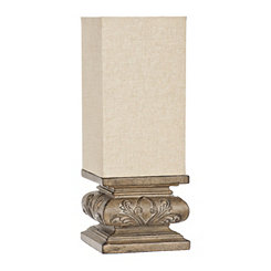 Stone Gray Pedestal Uplight