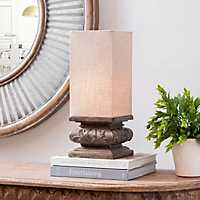 Stone Gray Pedestal Uplight
