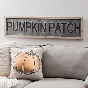 Galvanized Metal Pumpkin Patch Plaque