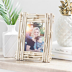 Metallic Champagne Bamboo Picture Frame, 4x6