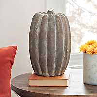 Terracotta Pumpkin, 10 in.