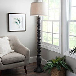 Aged Gray Stevens Floor Lamp
