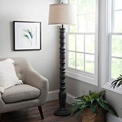 Aged Gray Stevens Floor Lamp