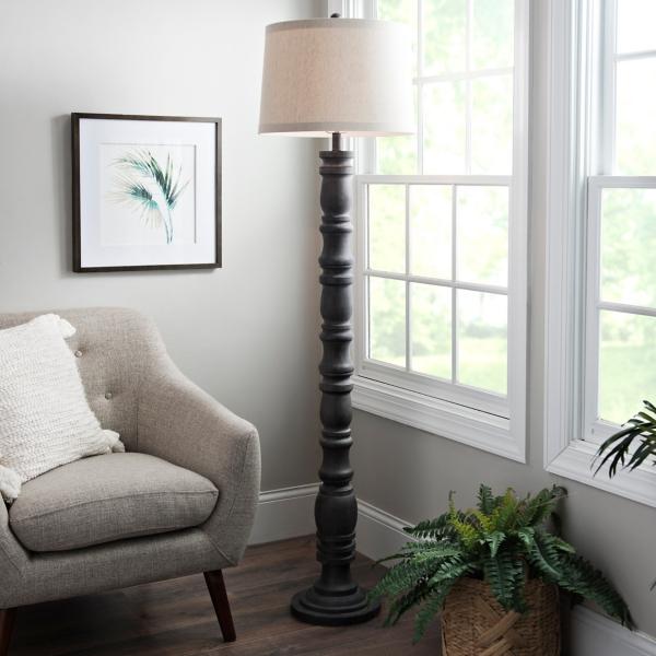 Superior Aged Gray Stevens Floor Lamp