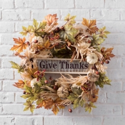 Give Thanks Pumpkin Fall Wreath
