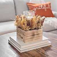 Wheat Mix Crate Centerpiece