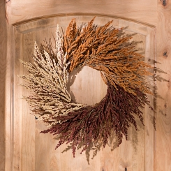 Wheat Heather Fall Wreath