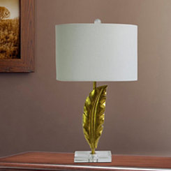 Gold Plated Quill Table Lamp