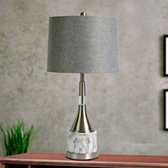 Faux Marble and Metal Bottle Table Lamp
