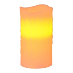 Pre-Lit Ivory LED Pillar Candle, 6 in.