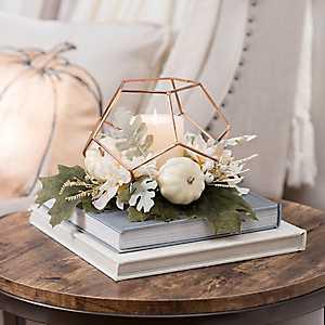 Copper Pumpkin Geometric Floral Arrangement