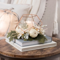 Copper Pumpkin Geometric Floral Arrangement