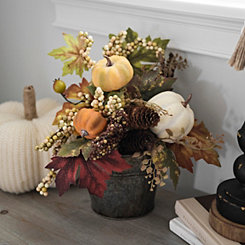 Pumpkin Wall Pocket Floral Arrangement