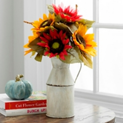 Sunflower Milk Jug Floral Arrangement