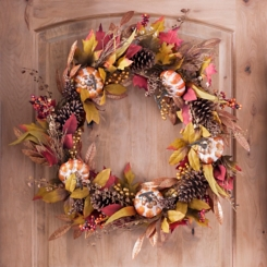 Metallic Greenery Fall Wreath