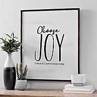 Choose Joy Framed Wood Wall Plaque