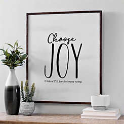 Choose Joy Framed Wood Wall Plaque