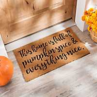 Pumpkin Spice and Everything Nice Doormat