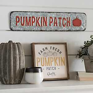 Galvanized Metal Pumpkin Patch Sign