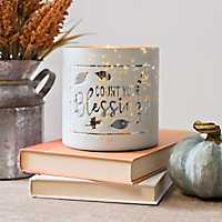 Count Your Blessings Glass Votive Holder