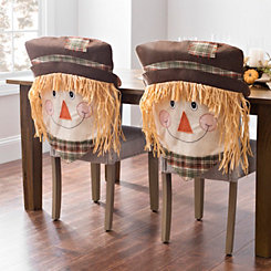 Boy Scarecrow Chair Covers, Set of 2