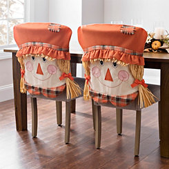Girl Scarecrow Chair Covers, Set of 2