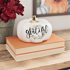 White Grateful Wreath Pumpkin