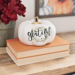 White Grateful Wreath Pumpkin