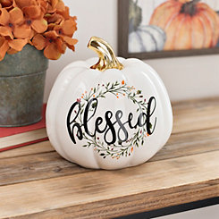 White Blessed Wreath Pumpkin