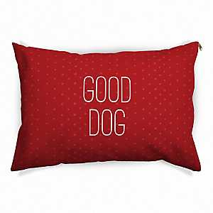 Red Polka Dot Good Dog Pet Bed