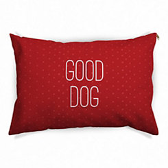 Red Polka Dot Good Dog Pet Bed
