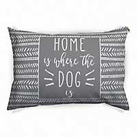 Gray Stripe Home is Where the Dog Is Pet Bed
