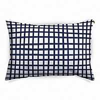 Navy Windowpane Pet Bed