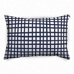 Navy Windowpane Pet Bed