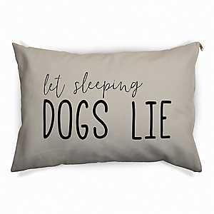 Tan Let Sleeping Dogs Lie Pet Bed