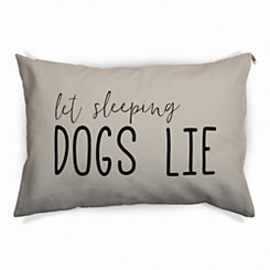 Tan Let Sleeping Dogs Lie Pet Bed