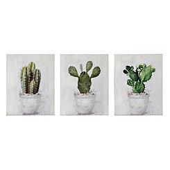 Cactus Canvas Art Prints, Set of 3